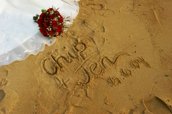 Chip & Jen Sandwriting