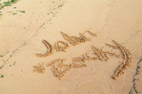 John & Becky Sandwriting